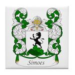 Simoes Family Crest Tile Coaster