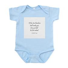 JOHN  8:36 Infant Creeper