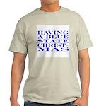 Blue State Christmas Ash Grey T-Shirt