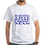 Blue State Christmas White T-Shirt
