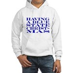 Blue State Christmas Hooded Sweatshirt