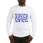 Blue State Christmas Long Sleeve T-Shirt