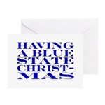 Blue State Christmas Greeting Cards (Pk of 10)