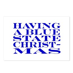 Blue State Christmas Postcards (Package of 8)