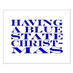 Blue State Christmas Small Poster