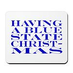 Blue State Christmas Mousepad