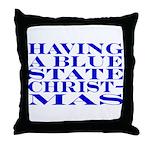 Blue State Christmas Throw Pillow