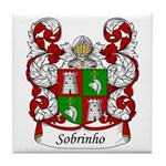 Sobrinho Family Crest Tile Coaster