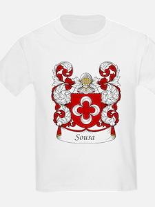 Sousa Family Crest Kids T-Shirt