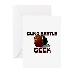 Dung Beetle Geek Greeting Cards (Pk of 10)