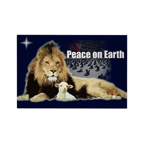 Peace on Earth for the Religi Rectangle Magnet (10