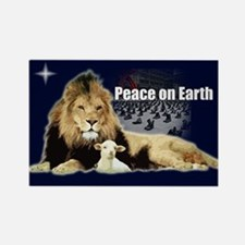 Peace on Earth for the Religi Rectangle Magnet