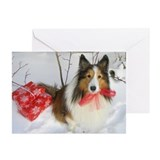 Sheltie christmas Greeting Cards (10 Pack)