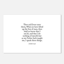 JOHN  8:28 Postcards (Package of 8)