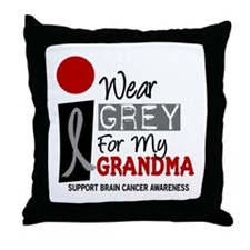 I Wear Grey For My Grandma 9 Throw Pillow