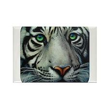 White Tiger Rectangle Magnet (100 pack)