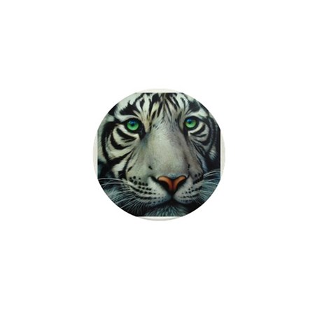 White Tiger Mini Button