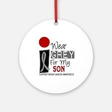 I Wear Grey For My Son Ornament (Round)