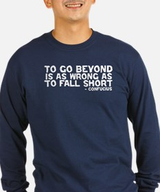 Confucius - Go Beyond Fall Short T