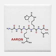 Aaron name molecule Tile Coaster