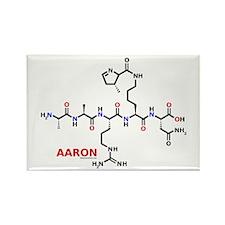 Aaron name molecule Rectangle Magnet