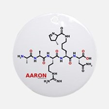 Aaron name molecule Ornament (Round)