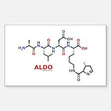 Aldo name molecule Rectangle Decal