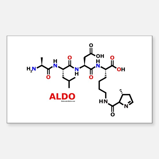Aldo name molecule Rectangle Decal