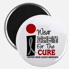 "I Wear Grey For The Cure PD 9 2.25"" Magnet (100 pa"