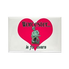 Turtleboy Worcester is for Lovers Rectangle Magnet