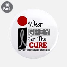 """I Wear Grey For My Dad PD 9 3.5"""" Button (10 pack)"""