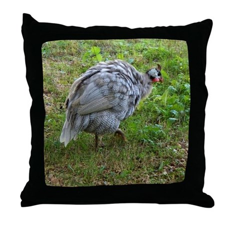 guineafowl Throw Pillow