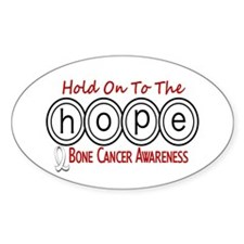 HOPE Bone Cancer 6 Oval Decal
