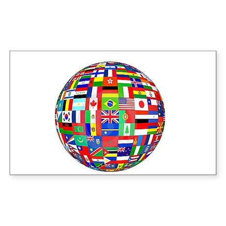 un world Rectangle Sticker