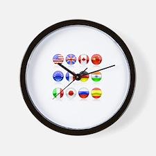 un circles Wall Clock