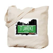 ST LAWRENCE AVENUE, BRONX, NYC Tote Bag