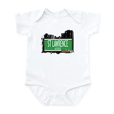 ST LAWRENCE AVENUE, BRONX, NYC Infant Bodysuit