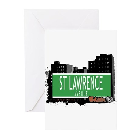 ST LAWRENCE AVENUE, BRONX, NYC Greeting Cards (Pk