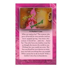 A Mother's Love Postcards w/ msg (Package of 8)