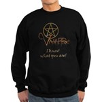 Twilight Know What You Are Sweatshirt (dark)