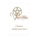 Twilight Know What You Are Rectangle Sticker 10 p
