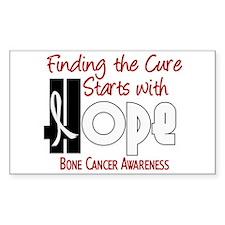 HOPE Bone Cancer 4 Rectangle Decal