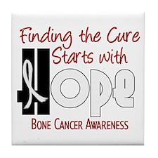 HOPE Bone Cancer 4 Tile Coaster