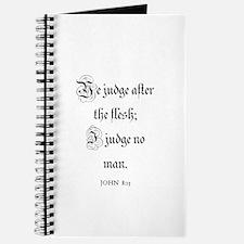 JOHN 8:15 Journal