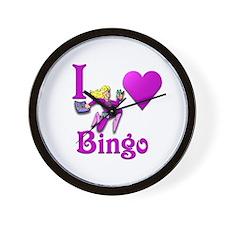 I Love Bingo #4 Wall Clock