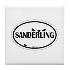 OBX Oval Decal Tile Coaster