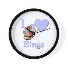 I Love Bingo #5 Wall Clock