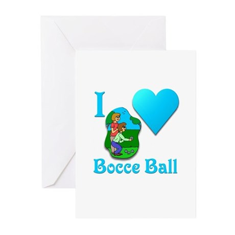I Love Bocce Ball #2 Greeting Cards (Pk of 20)