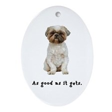 Good Lhasa Apso Oval Ornament