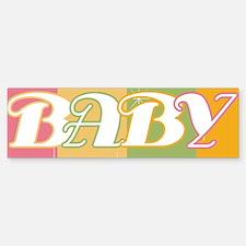 Retro Stripes Baby Bumper Bumper Bumper Sticker